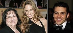 Hilary Swank, right, and her mom Judy; Actors Young Performers' Fred Savage.