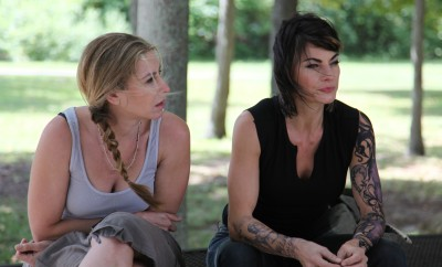 "Yvonne Jung, left, and Traci Dinwiddie in ""Stuff."""
